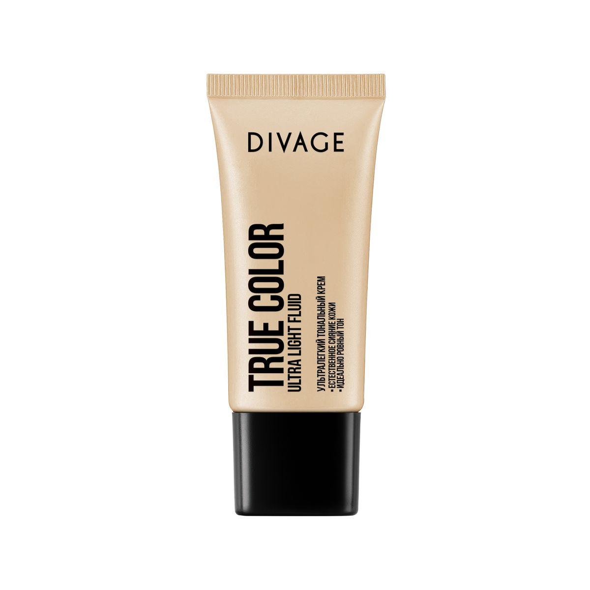 DIVAGE Тональный крем TRUE COLOR, тон № 01, 30 мл219579Невидимая и лёгкая тональная основа с прозрачной водянистой текстурой эффективно увлажняет и освежает кожу. Влага наполняет клетки и хорошо удерживается в поверхности кожи. Масло авокадо и витамины Е помогают клеткам кожи противостоять вредным воздействиям окружающей среды. Хорошо увлажнённая и защищённая кожа выглядит свежей, ухоженной и ровной без ощущения «маски на лице».