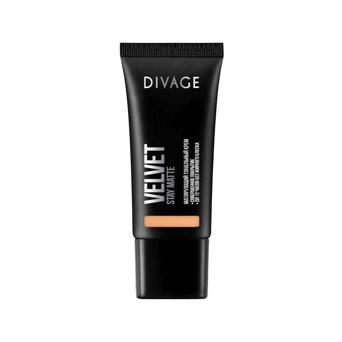 DIVAGE Тональный крем VELVET, тон № 04, 30 мл219654Нежная кремовая текстура обладает тройным действием. Микропигменты идеально выравнивают кожу, маскируя любые недостатки, и создают идеально ровный тон лица, придавая коже бархатное сияние. Витамин Е защищает кожу от вредного воздействия окружающей среды. Экстракт зеленого чая, входящий в состав формулы, сужает поры и придаёт дополнительную матовость коже лица. Тональный крем держится до 12 часов, сохраняя кожу ровной и гладкой без жирного блеска.