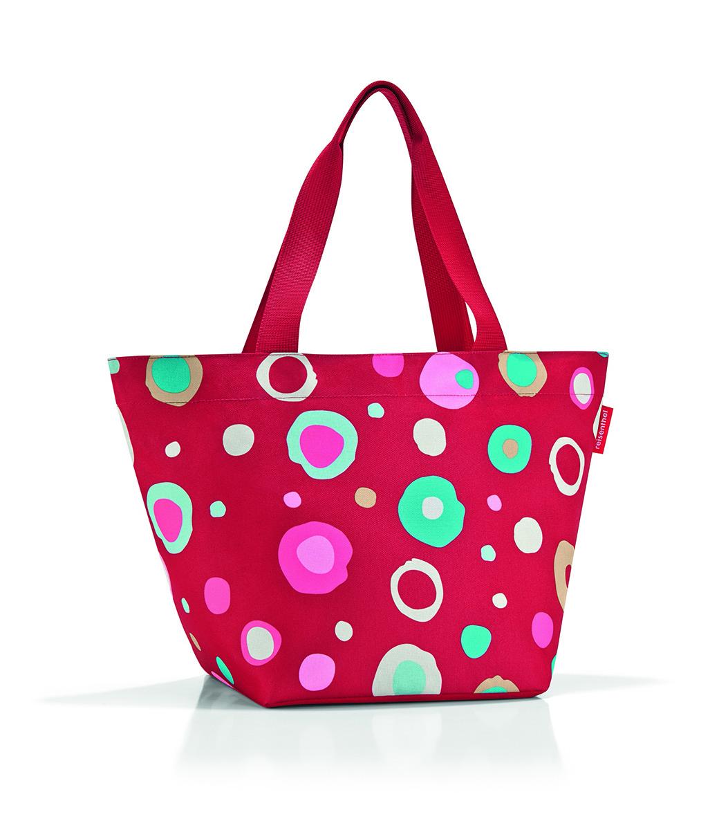 Сумка женская Reisenthel Shopper M, цвет: красный. ZS3048ZS3048Универсальная женская сумка Reisenthel Shopper M изготовлена из плотного полиэстера и оформлена ярким принтом. Сумка содержит одно вместительное отделение, закрывающееся на застежку-молнию. Внутри расположен нашивной карман на молнии. Изделие дополнено двумя практичными широкими ручками, которые позволят носить сумку, как в руках, так и на плече. Практичная сумка станет незаменимым аксессуаром для повседневного использования.