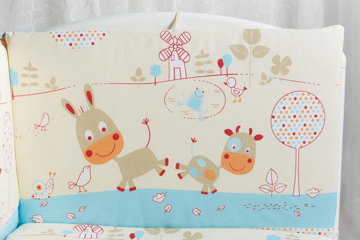 Rabby Baby Бортик для кровати Лето в деревне цвет голубой