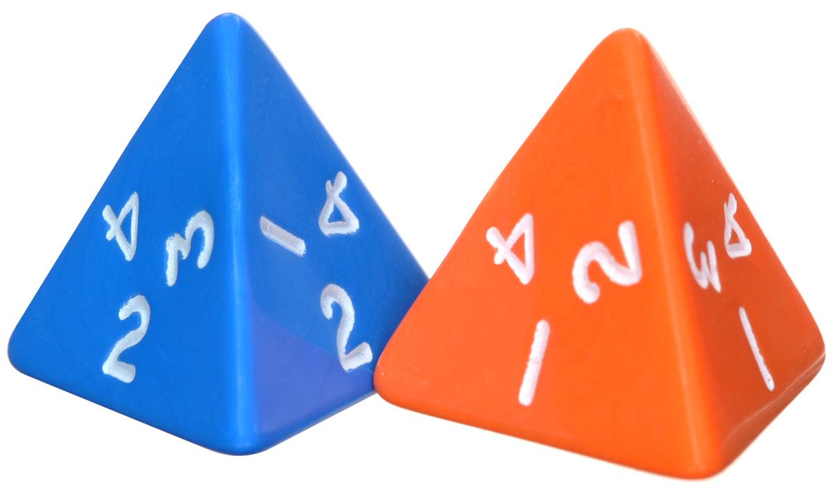 Koplow Games Набор игральных костей Простые D4 цвет оранжевый синий 2 шт