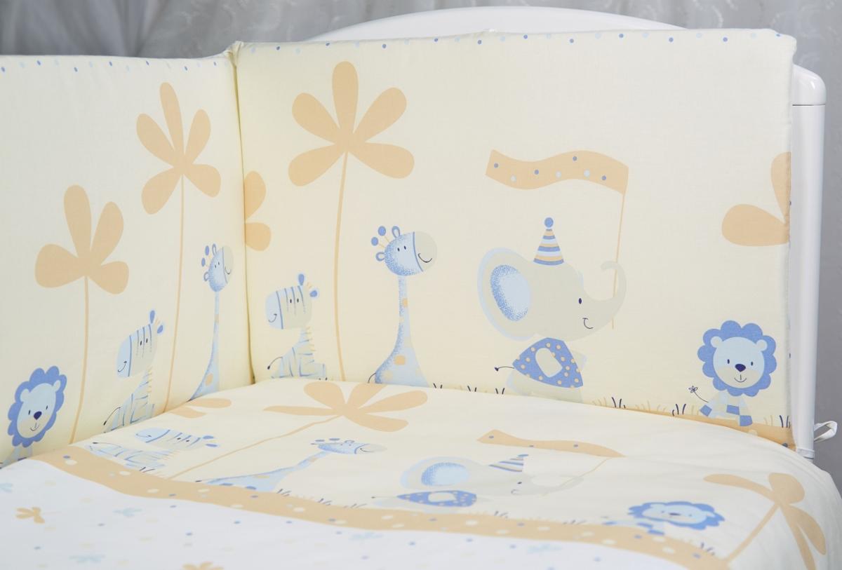 Rabby Baby Комплект детского постельного белья Отряд зверят цвет бежевый315926/4Пододеяльник 147х112см Наволочка 60х40см Простыня на резинке на спальное место 120*60