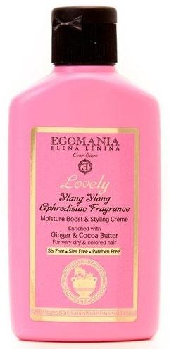 Egomania Professional Collection Крем увлажняющий Lovelyдля объема и укладки с имбирем и маслом какао для пересушенных и окрашенных волос 100 мл