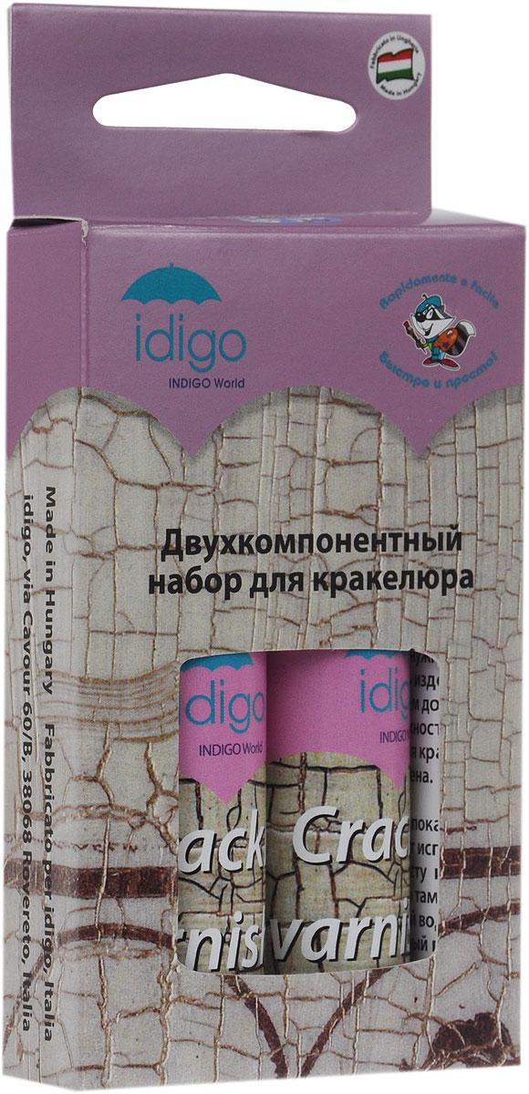 Idigo Набор для кракелюраdc 223046Набор лаков для кракелюра Idigo используется для обработки стеклянных, деревянных и керамических поверхностей. Кракелюрные лаки бесцветны поэтому цвет поверхности не меняется, а лишь покрывается трещинами, приобретая состаренный вид. Лаки наносятся последовательно, для получения эффекта каждый слой должен полностью высохнуть. В набор входят два тюбика с лаками. Беречь от замерзания.