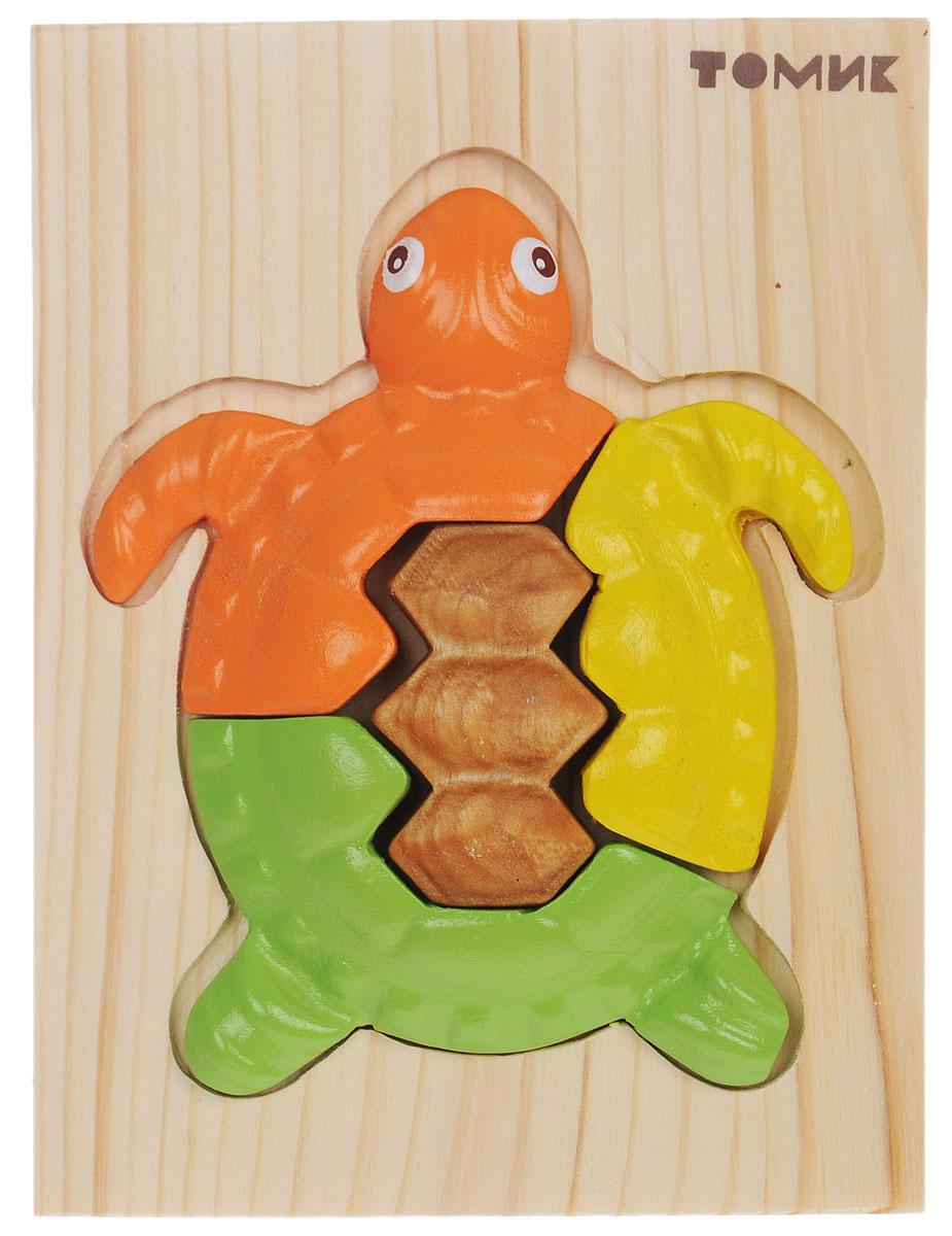Томик Пазл объемный Черепашка426Объемный пазл Томик Черепашка - это деревянная основа, в которой вырезано углубление определенной формы, совпадающее с формой фигурки. В углубление вставляются элементы фигурки так, чтобы получилась яркая черепашка. Пазл прекрасно развивает логическое мышление, мелкую моторику, память, учит различать цвета, формы и размеры. Все детали хорошо отшлифованы и покрашены безопасной краской.
