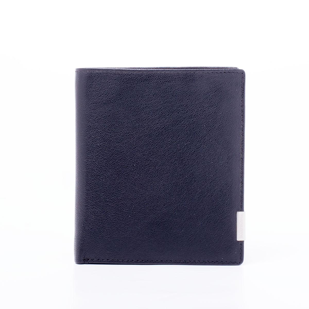 Бумажник мужской Bodenschatz, цвет: черный. 8-117/018-117/01Портмоне, нат. кожа
