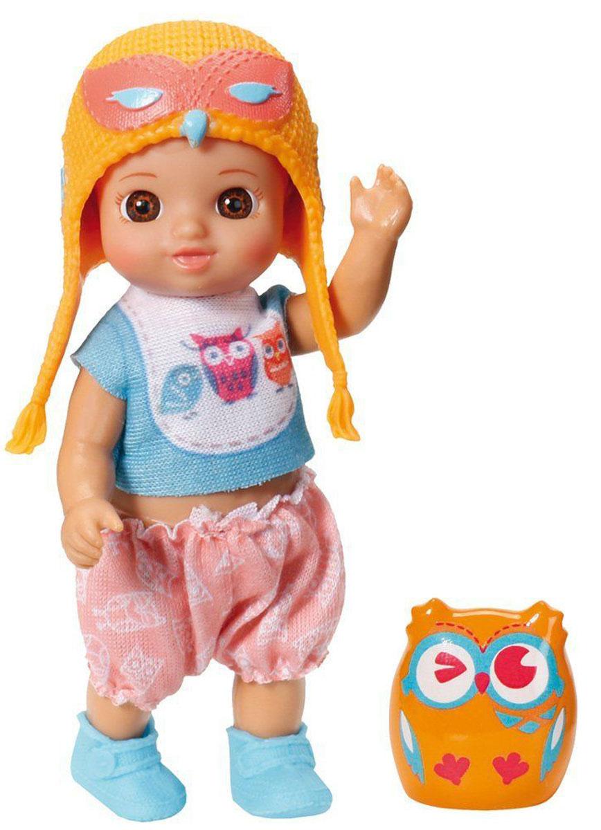 Chou Chou Мини-кукла Mini Birdies цвет оранжевый920-053_оранжевыйКукла Zapf Creation Mini Chou Chou: Birdies займет внимание вашей малышки и подарит ей множество счастливых мгновений. Кукла изготовлена из пластика, ее голова, ручки и ножки подвижны. Куколка одета в футболку с изображением птичек, удобные панталоны, на ногах у нее - тапочки из гибкого пластика, а на голове - шапочка в виде совы. В комплект входит очаровательный питомец-сова для куклы. Благодаря играм с куклой, ваша малышка сможет развить фантазию и любознательность, овладеть навыками общения и научиться ответственности, а дополнительные аксессуары сделают игру еще увлекательнее. Порадуйте свою принцессу таким прекрасным подарком!