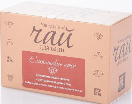 Spa Travel Чай для ванн минеральный Египетские ночи, восстанавливающий, с экстрактом зеленого чая, 200 г253Гидрокарбонатно магниево-кальциевая ванна тонизирует кожу, расслабляет мышцы, способствует восстановлению сил. Биопротеины молока увлажняют и очищают кожу. Экстракт зеленого чая является эффективным природным антиоксидантом.