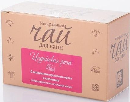 Spa Travel Чай для ванн минеральный Индийская роза, успокаивающий, с экстрактами мускатного ореха и шиповника, 200 г