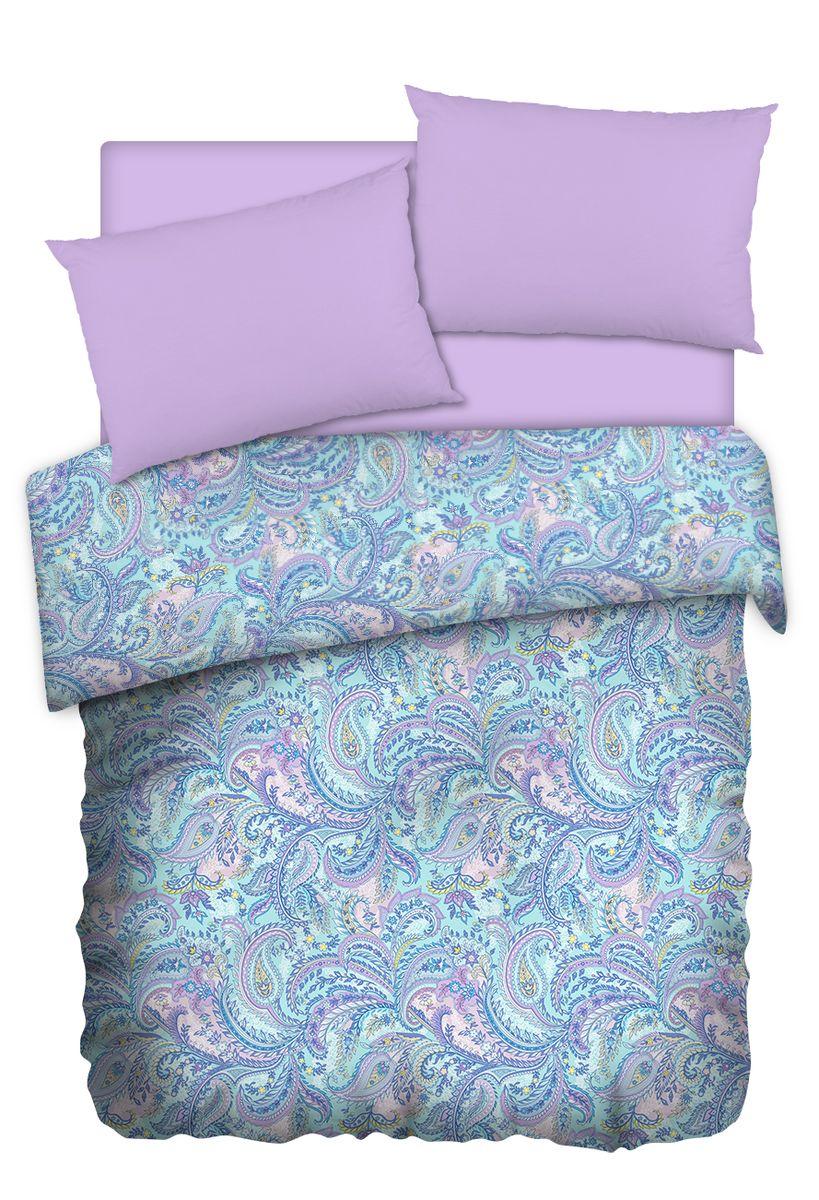 Комплект белья Carte Blanshe Paisley lazure, 2-х спальное, наволочки 50x70, цвет: бирюзовый. 333465333465Коллекция эксклюзивного постельного белья, созданная итальянскими дизайнерами прекрасного старинного городка Италии — Riva del Gard. Постельное белье выполнено из великолепной ткани премиум — класса «Percale Soft Touch». Эта ткань произведена из 100% натурального хлопка имеет специальную обработку «Wise Silk», которая придает дополнительную гладкость и шелковистость ткани. Благодаря специальной обработке ткань более приятная на ощупь, практически не мнется.