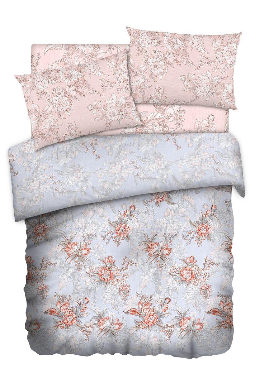 Комплект белья Carte Blanshe Misty Morning, 1,5 спальное, наволочки 50x70, цвет: розовый. 333445333445Коллекция эксклюзивного постельного белья, созданная итальянскими дизайнерами прекрасного старинного городка Италии — Riva del Gard. Постельное белье выполнено из великолепной ткани премиум — класса «Percale Soft Touch». Эта ткань произведена из 100% натурального хлопка имеет специальную обработку «Wise Silk», которая придает дополнительную гладкость и шелковистость ткани. Благодаря специальной обработке ткань более приятная на ощупь, практически не мнется.