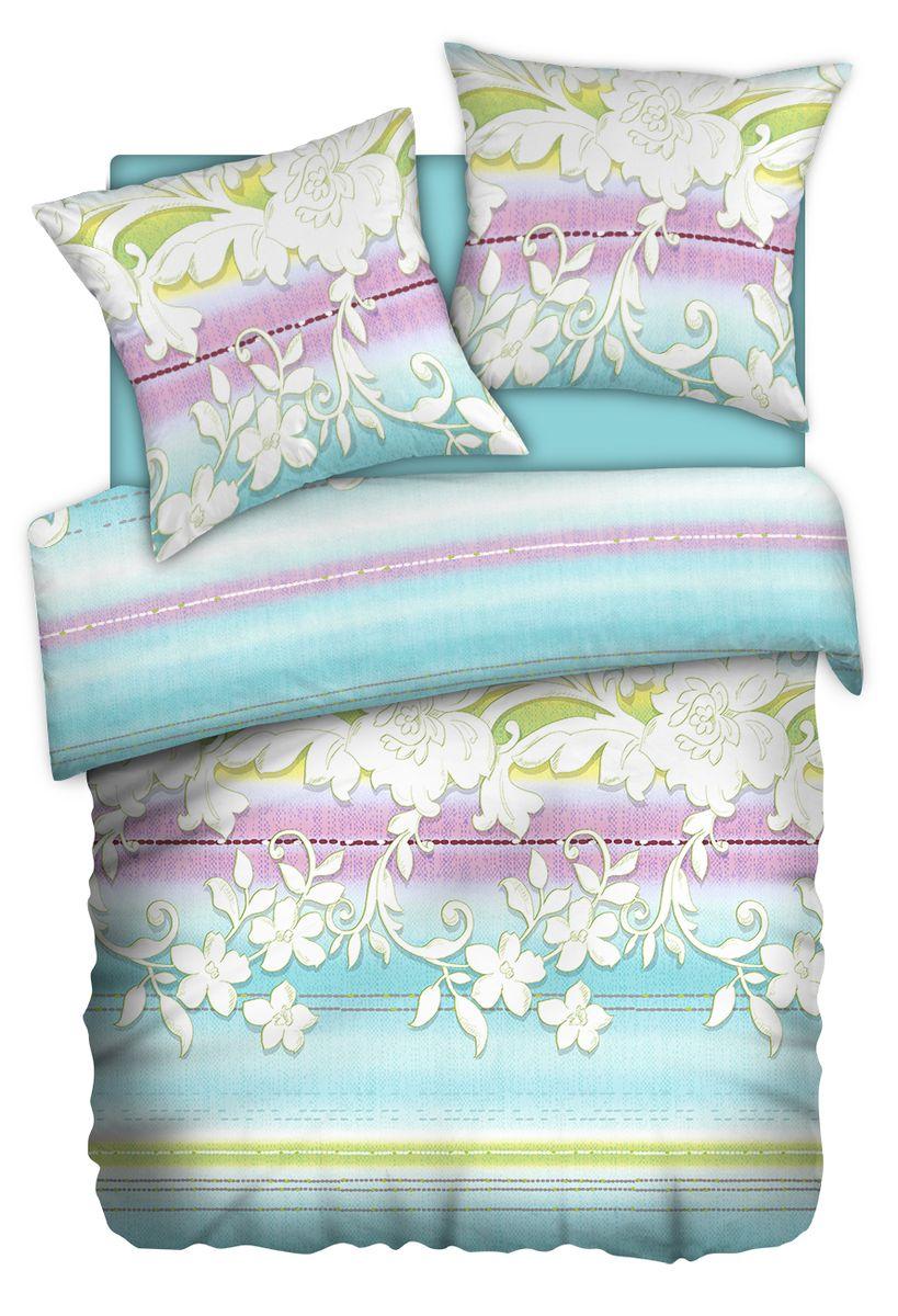 Комплект белья Carte Blanshe Jade, 2-х спальное, наволочки 70x70, цвет: голубой. 333473333473Коллекция эксклюзивного постельного белья, созданная итальянскими дизайнерами прекрасного старинного городка Италии — Riva del Gard. Постельное белье выполнено из великолепной ткани премиум — класса «Percale Soft Touch». Эта ткань произведена из 100% натурального хлопка имеет специальную обработку «Wise Silk», которая придает дополнительную гладкость и шелковистость ткани. Благодаря специальной обработке ткань более приятная на ощупь, практически не мнется.