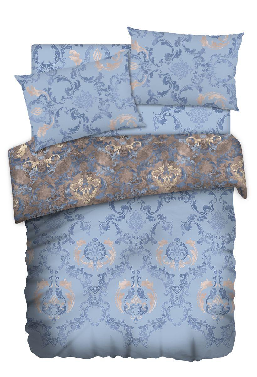 Комплект белья Carte Blanshe Vintage blue, евро, наволочки 50x70, цвет: синий. 333511333511Коллекция эксклюзивного постельного белья, созданная итальянскими дизайнерами прекрасного старинного городка Италии — Riva del Gard. Постельное белье выполнено из великолепной ткани премиум — класса «Percale Soft Touch». Эта ткань произведена из 100% натурального хлопка имеет специальную обработку «Wise Silk», которая придает дополнительную гладкость и шелковистость ткани. Благодаря специальной обработке ткань более приятная на ощупь, практически не мнется.