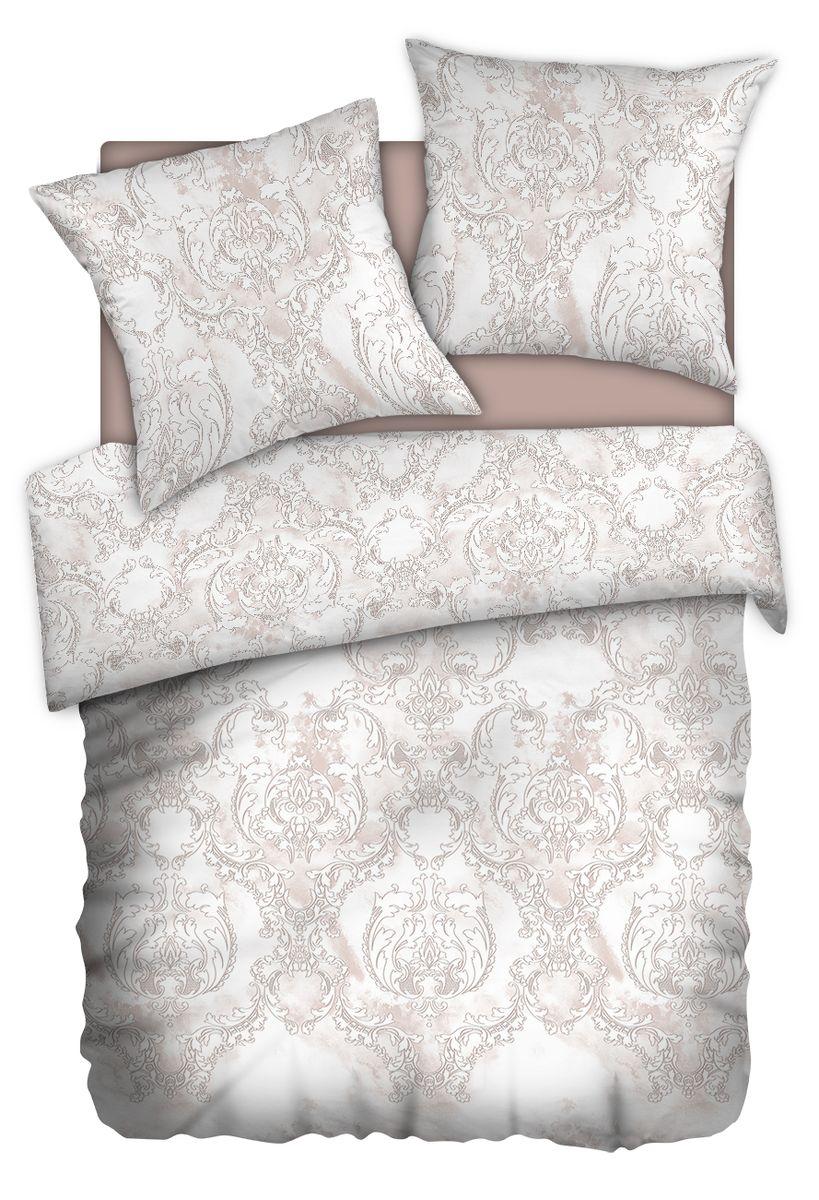Комплект белья Carte Blanshe Vintage beige, 2-х спальное, наволочки 70x70, цвет: коричневый. 333477333477Коллекция эксклюзивного постельного белья, созданная итальянскими дизайнерами прекрасного старинного городка Италии — Riva del Gard. Постельное белье выполнено из великолепной ткани премиум — класса «Percale Soft Touch». Эта ткань произведена из 100% натурального хлопка имеет специальную обработку «Wise Silk», которая придает дополнительную гладкость и шелковистость ткани. Благодаря специальной обработке ткань более приятная на ощупь, практически не мнется.