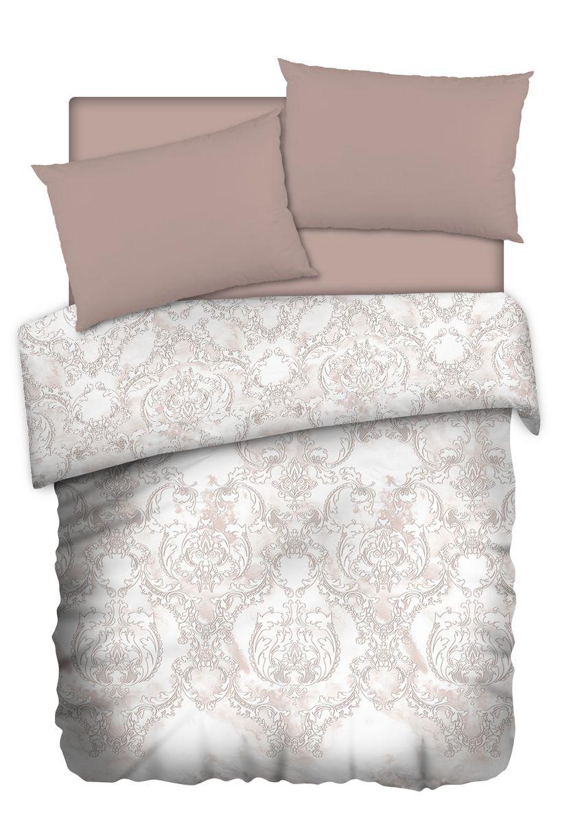 Комплект белья Carte Blanshe Vintage beige, 2-х спальное, наволочки 50x70, цвет: коричневый. 333468333468Коллекция эксклюзивного постельного белья, созданная итальянскими дизайнерами прекрасного старинного городка Италии — Riva del Gard. Постельное белье выполнено из великолепной ткани премиум — класса «Percale Soft Touch». Эта ткань произведена из 100% натурального хлопка имеет специальную обработку «Wise Silk», которая придает дополнительную гладкость и шелковистость ткани. Благодаря специальной обработке ткань более приятная на ощупь, практически не мнется.
