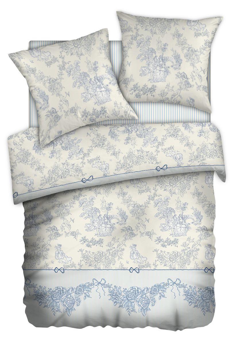 Комплект белья Carte Blanshe Toile de Jouy, 2-х спальное, наволочки 70x70, цвет: серый. 333479333479Коллекция эксклюзивного постельного белья, созданная итальянскими дизайнерами прекрасного старинного городка Италии — Riva del Gard. Постельное белье выполнено из великолепной ткани премиум — класса «Percale Soft Touch». Эта ткань произведена из 100% натурального хлопка имеет специальную обработку «Wise Silk», которая придает дополнительную гладкость и шелковистость ткани. Благодаря специальной обработке ткань более приятная на ощупь, практически не мнется.