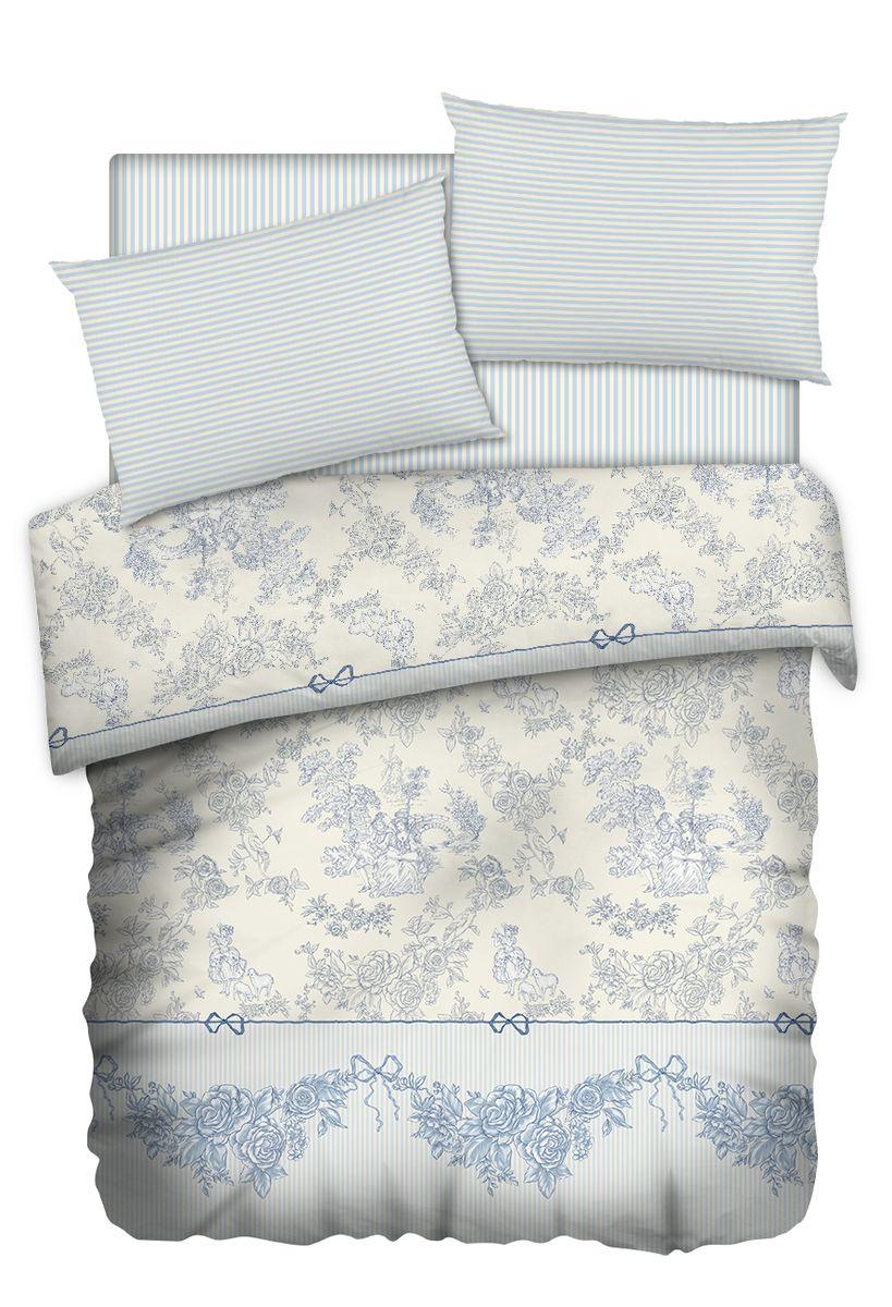 Комплект белья Carte Blanshe Toile de Jouy, 2-х спальное, наволочки 50x70, цвет: серый. 333470333470Коллекция эксклюзивного постельного белья, созданная итальянскими дизайнерами прекрасного старинного городка Италии — Riva del Gard. Постельное белье выполнено из великолепной ткани премиум — класса «Percale Soft Touch». Эта ткань произведена из 100% натурального хлопка имеет специальную обработку «Wise Silk», которая придает дополнительную гладкость и шелковистость ткани. Благодаря специальной обработке ткань более приятная на ощупь, практически не мнется.