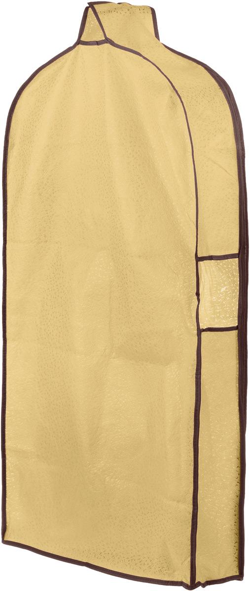 Чехол для одежды El Casa Звезды, подвесной, с прозрачной вставкой, цвет: светло-бежевый, 112,5 х 57 х 17 см370071Подвесной чехол для одежды El Casa Звезды на застежке-молнии выполнен из высококачественного нетканого материала. Чехол снабжен прозрачной вставкой из ПВХ, что позволяет легко просматривать содержимое. Изделие подходит для длительного хранения вещей. Чехол обеспечит вашей одежде надежную защиту от влажности, повреждений и грязи при транспортировке, от запыления при хранении и проникновения моли. Чехол обладает водоотталкивающими свойствами, а также позволяет воздуху свободно поступать внутрь вещей, обеспечивая их кондиционирование. Это особенно важно при хранении кожаных и меховых изделий. Чехол для одежды El Casa Звезды создаст уютную атмосферу в женском гардеробе. Лаконичный дизайн придется по вкусу ценительницам эстетичного хранения и сделают вашу гардеробную изысканной и невероятно стильной. Размер чехла (в собранном виде): 112,5 х 57 х 17 см.