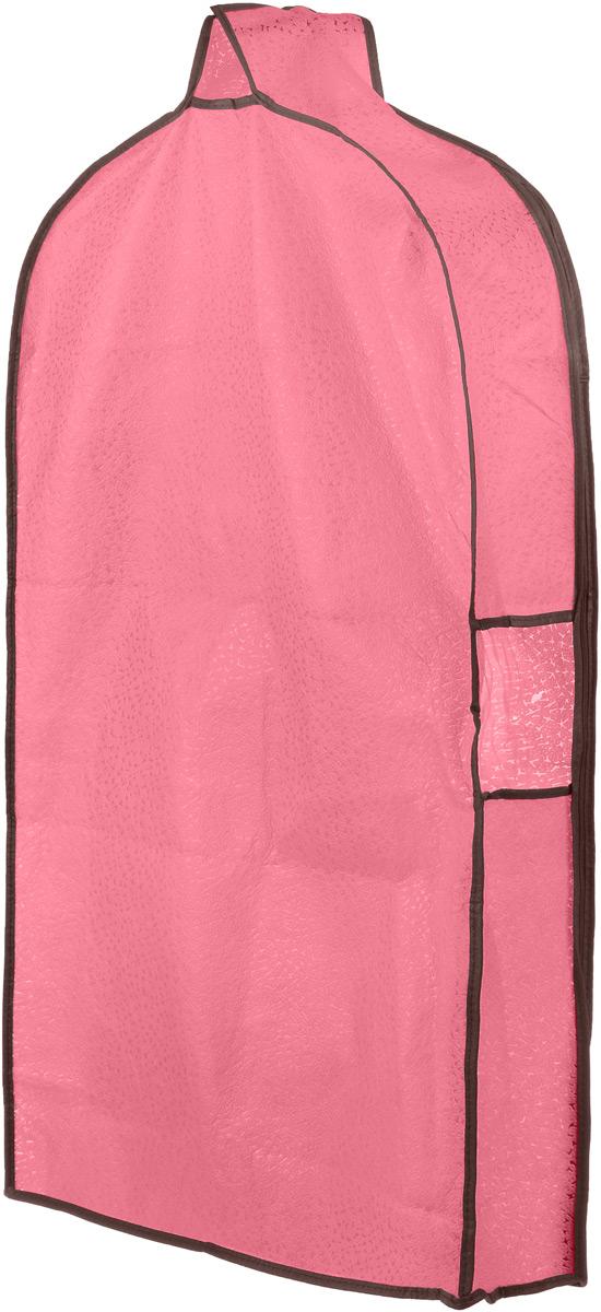 Чехол для одежды El Casa Звезды, подвесной, с прозрачной вставкой, цвет: розовый, 92,5 х 57 х 17 см370080Подвесной чехол для одежды El Casa Звезды на застежке-молнии выполнен из высококачественного нетканого материала. Чехол снабжен прозрачной вставкой из ПВХ, что позволяет легко просматривать содержимое. Изделие подходит для длительного хранения вещей. Чехол обеспечит вашей одежде надежную защиту от влажности, повреждений и грязи при транспортировке, от запыления при хранении и проникновения моли. Чехол обладает водоотталкивающими свойствами, а также позволяет воздуху свободно поступать внутрь вещей, обеспечивая их кондиционирование. Это особенно важно при хранении кожаных и меховых изделий. Чехол для одежды El Casa Звезды создаст уютную атмосферу в женском гардеробе. Лаконичный дизайн придется по вкусу ценительницам эстетичного хранения и сделает вашу гардеробную изысканной и невероятно стильной. Размер чехла (в собранном виде): 92,5 х 57 х 17 см.