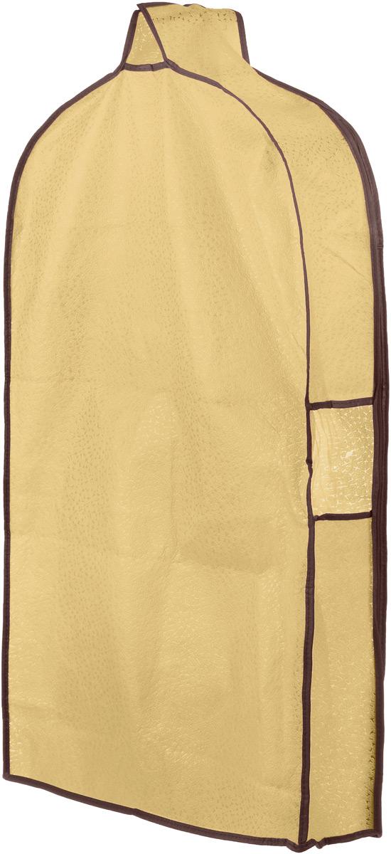 Чехол для одежды El Casa Звезды, подвесной, с прозрачной вставкой, цвет: светло-бежевый, 92,5 х 57 х 17 см370079Подвесной чехол для одежды El Casa Звезды на застежке-молнии выполнен из высококачественного нетканого материала. Чехол снабжен прозрачной вставкой из ПВХ, что позволяет легко просматривать содержимое. Изделие подходит для длительного хранения вещей. Чехол обеспечит вашей одежде надежную защиту от влажности, повреждений и грязи при транспортировке, от запыления при хранении и проникновения моли. Чехол обладает водоотталкивающими свойствами, а также позволяет воздуху свободно поступать внутрь вещей, обеспечивая их кондиционирование. Это особенно важно при хранении кожаных и меховых изделий. Чехол для одежды El Casa Звезды создаст уютную атмосферу в женском гардеробе. Лаконичный дизайн придется по вкусу ценительницам эстетичного хранения и сделает вашу гардеробную изысканной и невероятно стильной. Размер чехла (в собранном виде): 92,5 х 57 х 17 см.