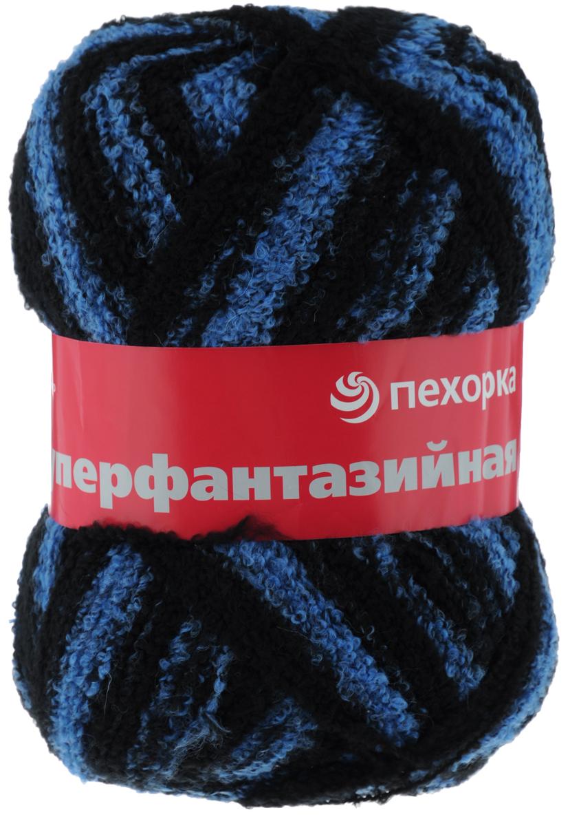 Пряжа для вязания Пехорка Суперфантазийная, цвет: черный, синий (105 М), 830 м, 360 г360054_105М_105 МПряжа для вязания Пехорка Суперфантазийная изготовлена из 50% шерсти, 48% акрила, 2% полиамида. Вес мотка 360 грамм, что достаточно для вывязывания одного изделия. Пряжа мягкая, теплая. Завиток прочно закреплен нитью к стержню пряжи. Готовые изделия получаются мягкими и теплыми. Состав: 50% шерсть, 48% акрил, 2% полиамид. Толщина нити: 4 мм.
