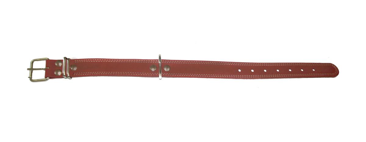 Ошейник Аркон Стандарт, цвет: коньячный, ширина 3,5 см, длина 62 см. о35/1ко35/1ккОшейник Аркон Стандарт изготовлен из кожи, устойчивой к влажности и перепадам температур. Клеевой слой, сверхпрочные нити, крепкие металлические элементы делают ошейник надежным и долговечным. Изделие отличается высоким качеством, удобством и универсальностью. Размер ошейника регулируется при помощи пряжки, зафиксированной на одном из 6 отверстий. Минимальный обхват шеи: 41 см. Максимальный обхват шеи: 55 см. Ширина: 3,5 см.
