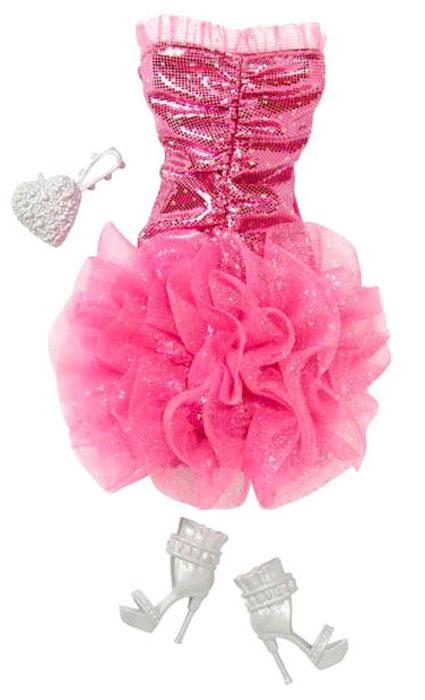 Barbie Одежда для кукол Платье цвет малиновый
