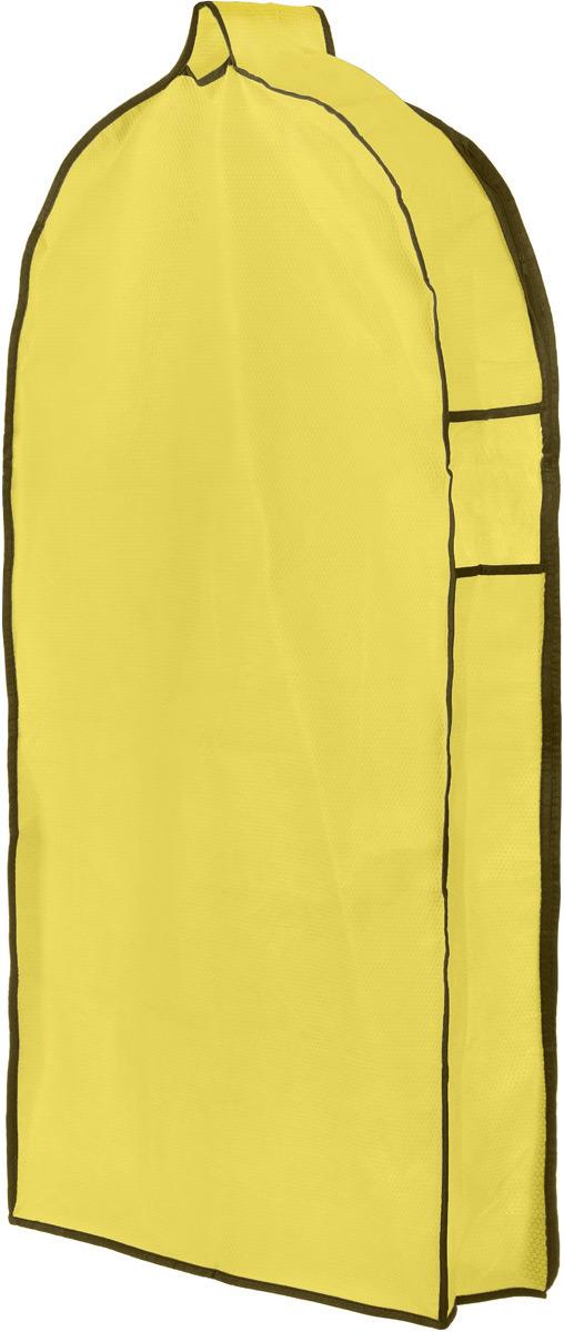Чехол для одежды El Casa Соты, подвесной, с прозрачной вставкой, цвет: желтый, 112,5 х 57 х 17 см370067Подвесной чехол для одежды El Casa Соты на застежке-молнии выполнен из высококачественного нетканого материала. Чехол снабжен прозрачной вставкой из ПВХ, что позволяет легко просматривать содержимое. Изделие подходит для длительного хранения вещей. Чехол обеспечит вашей одежде надежную защиту от влажности, повреждений и грязи при транспортировке, от запыления при хранении и проникновения моли. Чехол обладает водоотталкивающими свойствами, а также позволяет воздуху свободно поступать внутрь вещей, обеспечивая их кондиционирование. Это особенно важно при хранении кожаных и меховых изделий. Чехол для одежды El Casa Соты создаст уютную атмосферу в женском гардеробе. Лаконичный дизайн придется по вкусу ценительницам эстетичного хранения и сделают вашу гардеробную изысканной и невероятно стильной. Размер чехла (в собранном виде): 112,5 х 57 х 17 см.