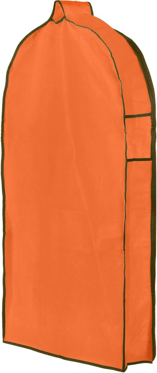 Чехол для одежды El Casa Соты, подвесной, с прозрачной вставкой, цвет: оранжевый, 112,5 х 57 х 17 см370066Подвесной чехол для одежды El Casa Соты на застежке-молнии выполнен из высококачественного нетканого материала. Чехол снабжен прозрачной вставкой из ПВХ, что позволяет легко просматривать содержимое. Изделие подходит для длительного хранения вещей. Чехол обеспечит вашей одежде надежную защиту от влажности, повреждений и грязи при транспортировке, от запыления при хранении и проникновения моли. Чехол обладает водоотталкивающими свойствами, а также позволяет воздуху свободно поступать внутрь вещей, обеспечивая их кондиционирование. Это особенно важно при хранении кожаных и меховых изделий. Чехол для одежды El Casa Соты создаст уютную атмосферу в женском гардеробе. Лаконичный дизайн придется по вкусу ценительницам эстетичного хранения и сделают вашу гардеробную изысканной и невероятно стильной. Размер чехла (в собранном виде): 112,5 х 57 х 17 см.