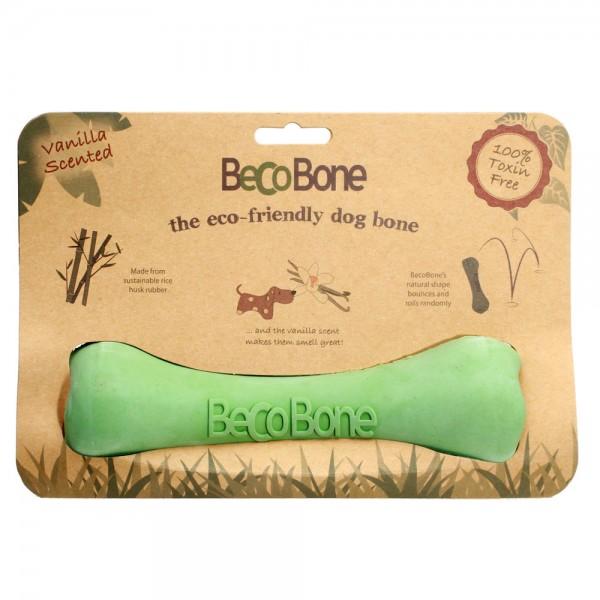 Игрушка для собак Beco Кость, цвет: зеленый, размер L4024Игрушки изготовлены из нового революционного экоматериала, состоящего из шелухи риса и каучука. Игрушки нетоксичные, экологически чистые и абсолютно безопасные для собак