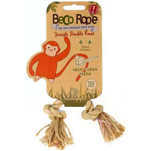 Игрушка для собак Beco Двойной узел. Джунгли, размер S4031Игрушки изготовлены из экологически чистых материалов - 100% хлопка и натуральных компонентов, при этом они твёрдые и прочные.