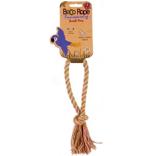 Игрушка для собак Beco Кольцо. Джунгли, размер M4038Игрушки изготовлены из экологически чистых материалов - 100% хлопка и натуральных компонентов, при этом они твёрдые и прочные.