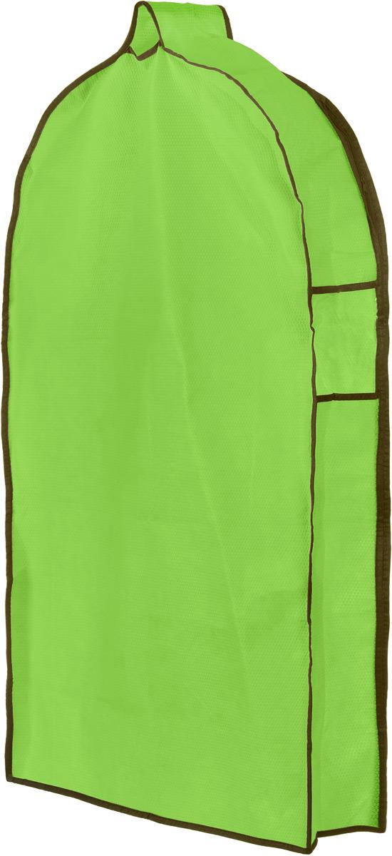 Чехол для одежды El Casa Соты, подвесной, с прозрачной вставкой, цвет: салатовый, 92,5 х 57 х 17 см370073Подвесной чехол для одежды El Casa Соты на застежке-молнии выполнен из высококачественного нетканого материала. Чехол снабжен прозрачной вставкой из ПВХ, что позволяет легко просматривать содержимое. Изделие подходит для длительного хранения вещей. Чехол обеспечит вашей одежде надежную защиту от влажности, повреждений и грязи при транспортировке, от запыления при хранении и проникновения моли. Чехол обладает водоотталкивающими свойствами, а также позволяет воздуху свободно поступать внутрь вещей, обеспечивая их кондиционирование. Это особенно важно при хранении кожаных и меховых изделий. Чехол для одежды El Casa Соты создаст уютную атмосферу в женском гардеробе. Лаконичный дизайн придется по вкусу ценительницам эстетичного хранения и сделают вашу гардеробную изысканной и невероятно стильной. Размер чехла (в собранном виде): 92,5 х 57 х 17 см.