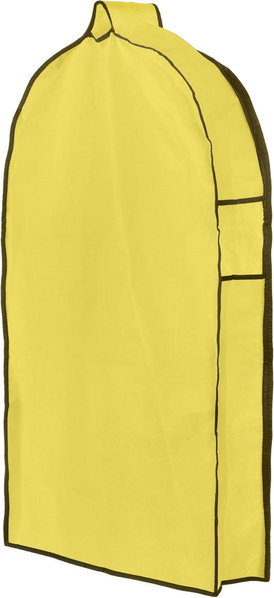Чехол для одежды El Casa Соты, подвесной, с прозрачной вставкой, цвет: желтый, 92,5 х 57 х 17 см370075Подвесной чехол для одежды El Casa Соты на застежке-молнии выполнен из высококачественного нетканого материала. Чехол снабжен прозрачной вставкой из ПВХ, что позволяет легко просматривать содержимое. Изделие подходит для длительного хранения вещей. Чехол обеспечит вашей одежде надежную защиту от влажности, повреждений и грязи при транспортировке, от запыления при хранении и проникновения моли. Чехол обладает водоотталкивающими свойствами, а также позволяет воздуху свободно поступать внутрь вещей, обеспечивая их кондиционирование. Это особенно важно при хранении кожаных и меховых изделий. Чехол для одежды El Casa Соты создаст уютную атмосферу в женском гардеробе. Лаконичный дизайн придется по вкусу ценительницам эстетичного хранения и сделают вашу гардеробную изысканной и невероятно стильной. Размер чехла (в собранном виде): 92,5 х 57 х 17 см.