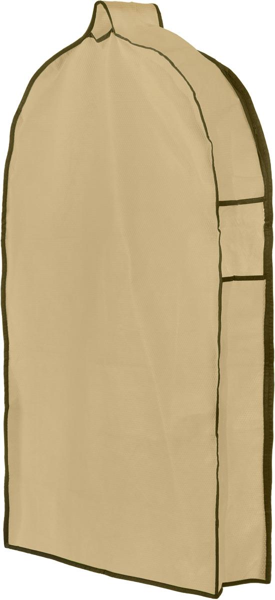 Чехол для одежды El Casa Соты, подвесной, с прозрачной вставкой, цвет: бежевый, 92,5 х 57 х 17 см370076Подвесной чехол для одежды El Casa Соты на застежке-молнии выполнен из высококачественного нетканого материала. Чехол снабжен прозрачной вставкой из ПВХ, что позволяет легко просматривать содержимое. Изделие подходит для длительного хранения вещей. Чехол обеспечит вашей одежде надежную защиту от влажности, повреждений и грязи при транспортировке, от запыления при хранении и проникновения моли. Чехол обладает водоотталкивающими свойствами, а также позволяет воздуху свободно поступать внутрь вещей, обеспечивая их кондиционирование. Это особенно важно при хранении кожаных и меховых изделий. Чехол для одежды El Casa Соты создаст уютную атмосферу в женском гардеробе. Лаконичный дизайн придется по вкусу ценительницам эстетичного хранения и сделают вашу гардеробную изысканной и невероятно стильной. Размер чехла (в собранном виде): 92,5 х 57 х 17 см.