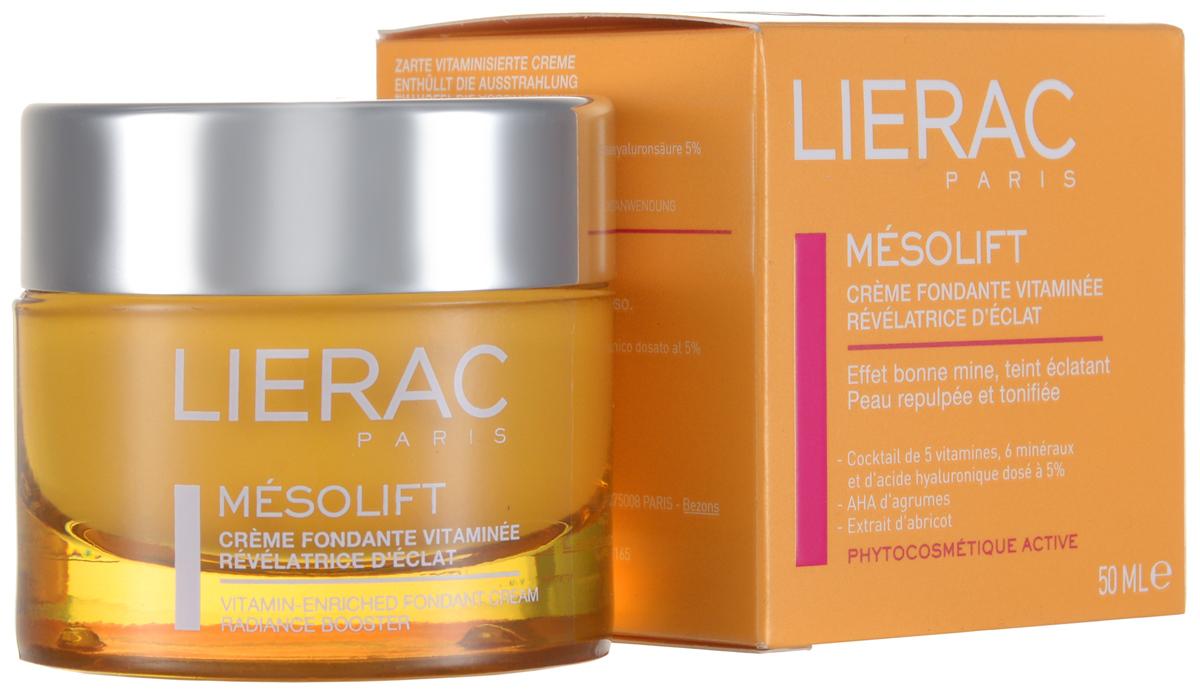 Lierac крем Mesolift 50 млL605КРЕМ МЕЗОЛИФТ настоящий спаситель усталой кожи, приносящий ей энергетический и восстанавливающий 5-ти процентный коктейль из витаминов и минералов. Мгновенный видимый и продолжительный результат: сияние, тонус и увлажнение кожи. Рекомендован для восстановления кожи после стресса, диет, сезонной нехватке витамин, беременности.