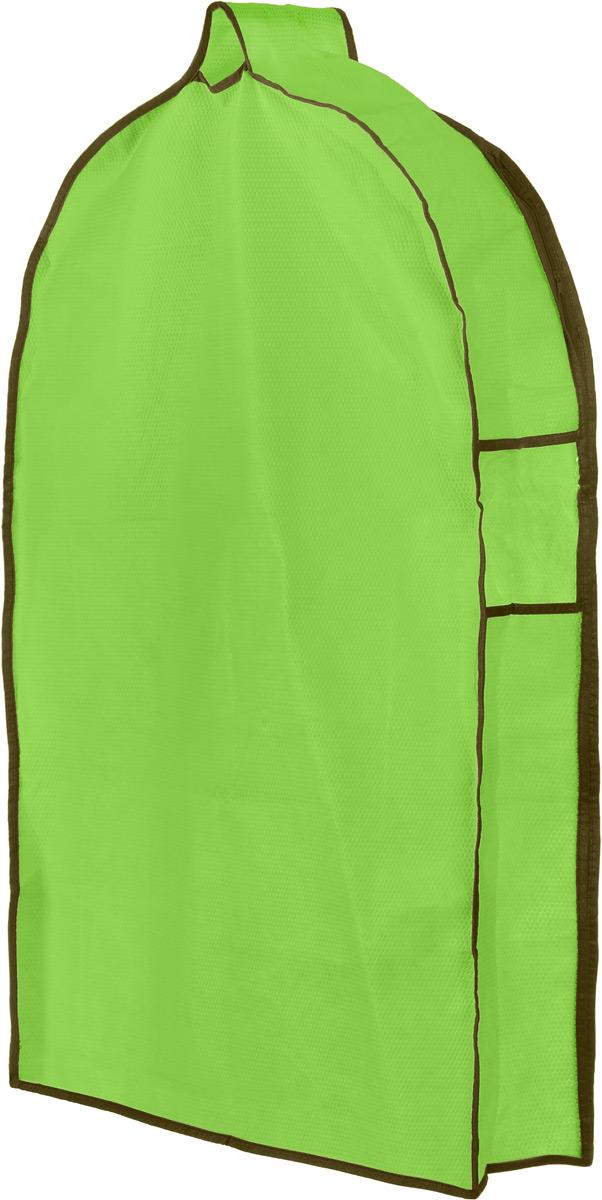 Чехол для одежды El Casa Соты, подвесной, с прозрачной вставкой, цвет: салатовый, 82,5 х 57 х 17 см370081Подвесной чехол для одежды El Casa Соты на застежке-молнии выполнен из высококачественного нетканого материала. Чехол снабжен прозрачной вставкой из ПВХ, что позволяет легко просматривать содержимое. Изделие подходит для длительного хранения вещей. Чехол обеспечит вашей одежде надежную защиту от влажности, повреждений и грязи при транспортировке, от запыления при хранении и проникновения моли. Чехол обладает водоотталкивающими свойствами, а также позволяет воздуху свободно поступать внутрь вещей, обеспечивая их кондиционирование. Это особенно важно при хранении кожаных и меховых изделий. Чехол для одежды El Casa Звезды создаст уютную атмосферу в женском гардеробе. Лаконичный дизайн придется по вкусу ценительницам эстетичного хранения и сделает вашу гардеробную изысканной и невероятно стильной. Размер чехла (в собранном виде): 82,5 х 57 х 17 см.