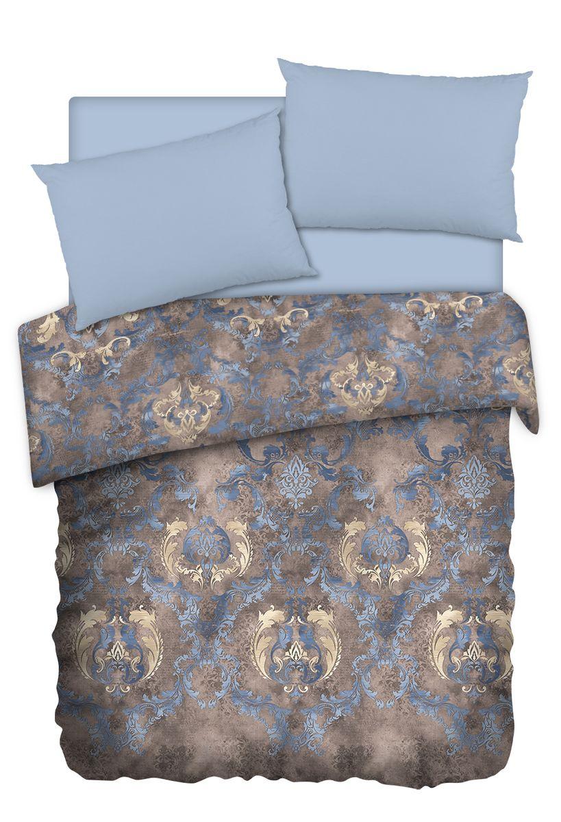 Комплект белья Carte Blanshe Vintage, 1,5 спальное, наволочки 50x70, цвет: коричневый. 333451333451Коллекция эксклюзивного постельного белья, созданная итальянскими дизайнерами прекрасного старинного городка Италии — Riva del Gard. Постельное белье выполнено из великолепной ткани премиум — класса «Percale Soft Touch». Эта ткань произведена из 100% натурального хлопка имеет специальную обработку «Wise Silk», которая придает дополнительную гладкость и шелковистость ткани. Благодаря специальной обработке ткань более приятная на ощупь, практически не мнется.
