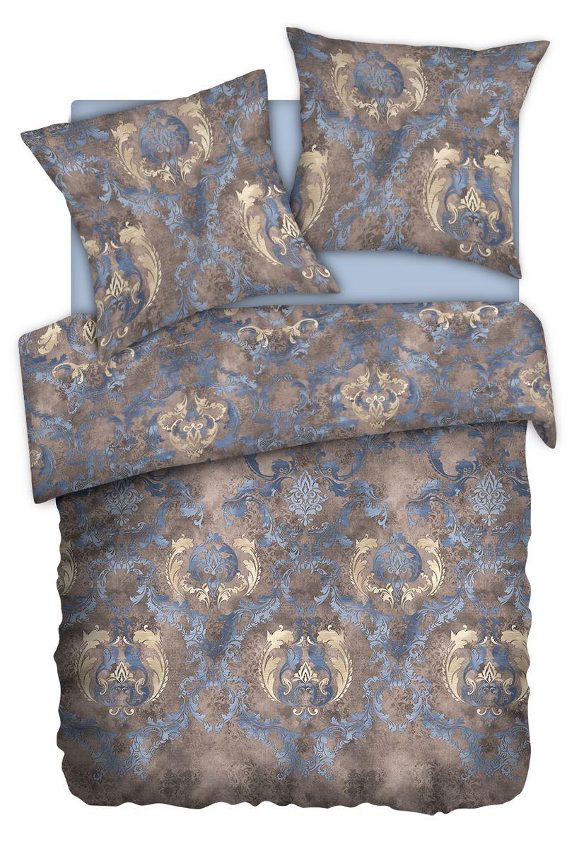 Комплект белья Carte Blanshe Vintage, 1,5 спальное, наволочки 70x70, цвет: коричневый. 333460333460Коллекция эксклюзивного постельного белья, созданная итальянскими дизайнерами прекрасного старинного городка Италии — Riva del Gard. Постельное белье выполнено из великолепной ткани премиум — класса «Percale Soft Touch». Эта ткань произведена из 100% натурального хлопка имеет специальную обработку «Wise Silk», которая придает дополнительную гладкость и шелковистость ткани. Благодаря специальной обработке ткань более приятная на ощупь, практически не мнется.