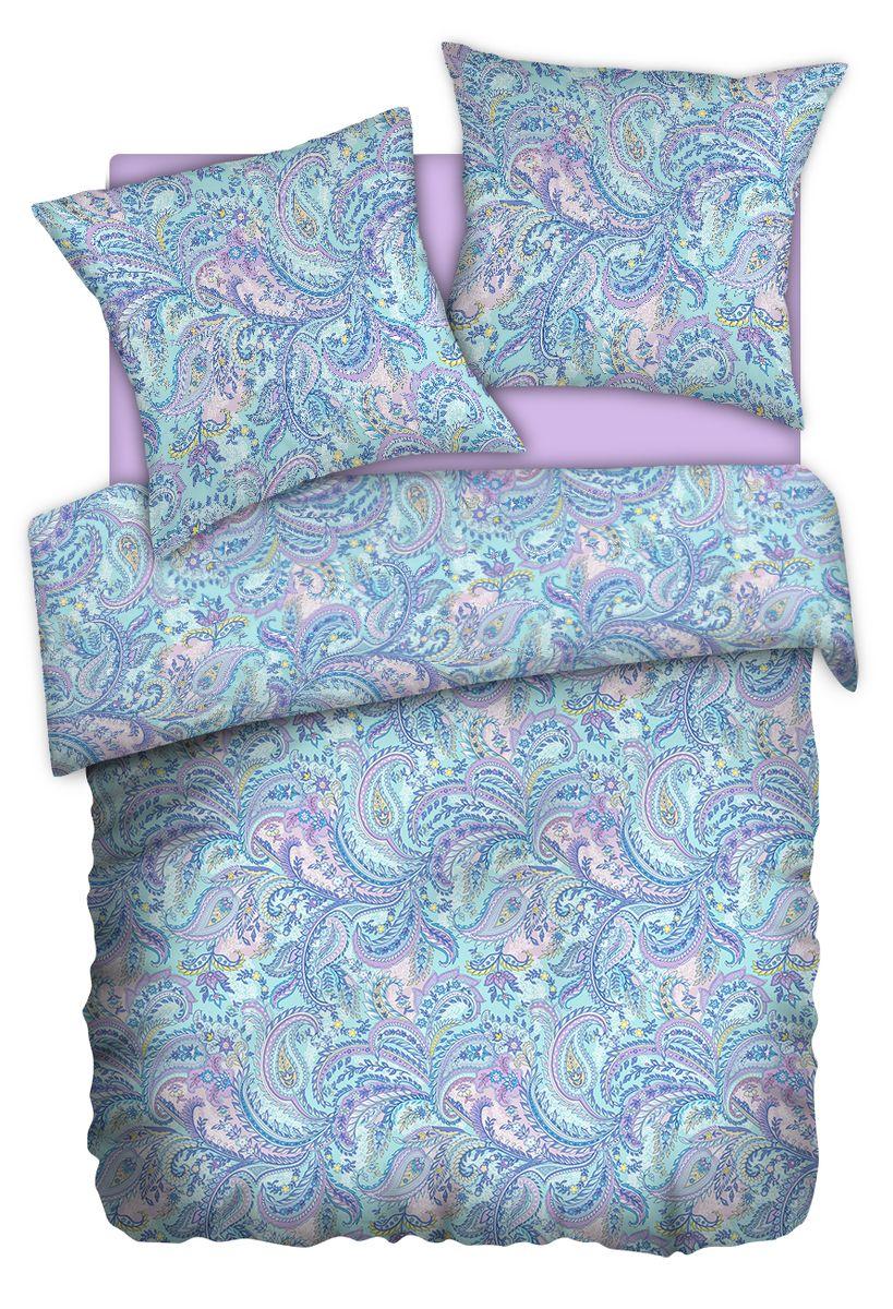 Комплект белья Carte Blanshe Paisley lazure, 2-х спальное, наволочки 70x70, цвет: бирюзовый. 333474333474Коллекция эксклюзивного постельного белья, созданная итальянскими дизайнерами прекрасного старинного городка Италии — Riva del Gard. Постельное белье выполнено из великолепной ткани премиум — класса «Percale Soft Touch». Эта ткань произведена из 100% натурального хлопка имеет специальную обработку «Wise Silk», которая придает дополнительную гладкость и шелковистость ткани. Благодаря специальной обработке ткань более приятная на ощупь, практически не мнется.