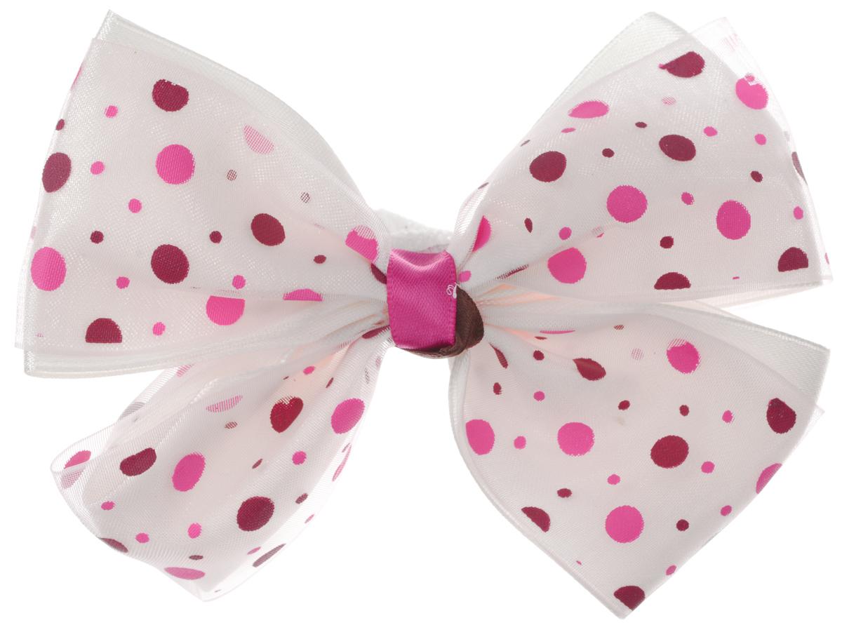 Baby's Joy Резинка для волос Бант цвет кремовый розовый