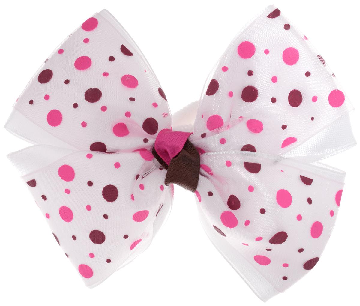 Baby's Joy Резинка для волос Бант цвет белый розовый