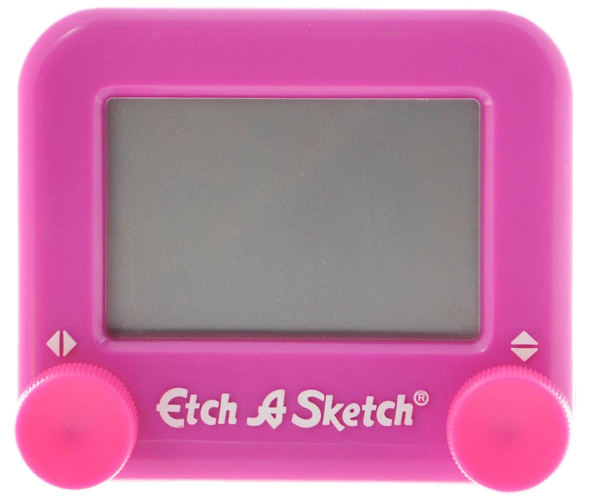 Etch-A-Sketch Волшебный экран цвет фиолетовый516_фиолетовыйВолшебный экран Etch-A-Sketch, непременно понравится вашему ребенку и станет для него любимой игрушкой. Волшебный экран поможет вашему ребенку создавать рисунки одной линией, посредством вращения двух круглых ручек, расположенных в нижних углах (одна из них перемещает указатель по вертикали, а другая по горизонтали). Самым сложным считается рисовать круглые объекты, волнистые линии и плавные изгибы. Внутри экрана находится специальный порошок, который счищает тонкий указатель с внутренней поверхности экрана, оставляя за собой темную линию. Для того чтобы стереть свой рисунок, достаточно просто перевернуть экран вниз и потрясти, и он снова станет серым, при этом указатель начнет чертить ровно из той точки, где закончился предыдущий рисунок. Компактный размер экрана позволяет брать его с собой в дорогу. Активно развивает связь между правым и левым полушариями мозга!