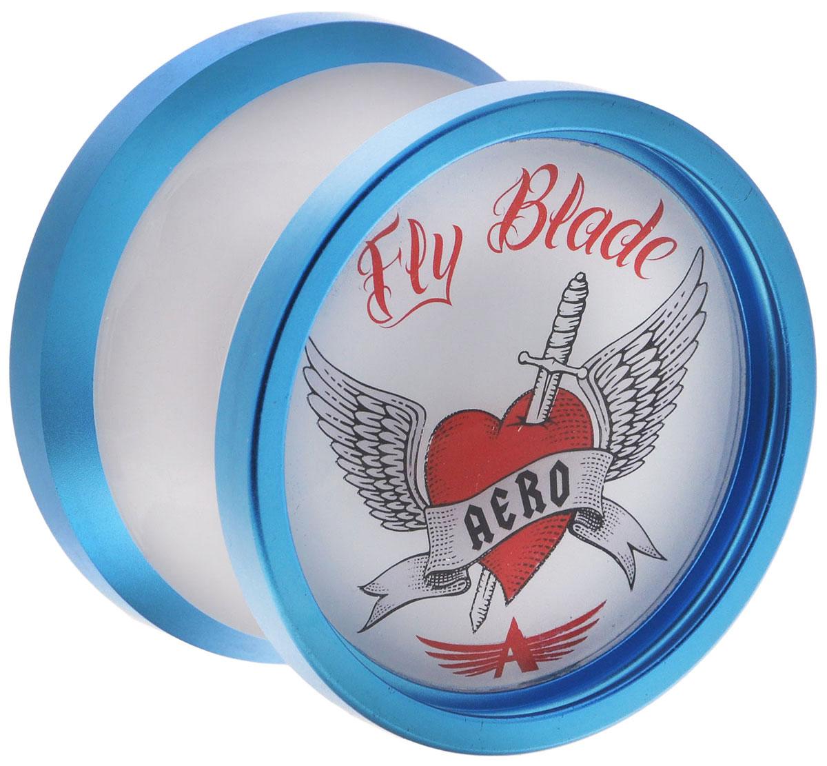 Aero-Yo Йо-йо Aero Fly Blade цвет синий732027_синийFly Blade - доступное композитное йо-йо. Отличное сочетание формы, веса и динамики алюминиевых ободов. Широкий подшипник позволяет делать сложные трюки, а резиновая тормозная система делает игру чрезвычайно мягкой. Чаще всего это йо-йо привлекает внимание к себе своим урбан дизайном, профессиональные игроки ценят его оптимальный вес, а новички - прочные материалы и высокое качество изготовления. В комплекте буклет с трюками!