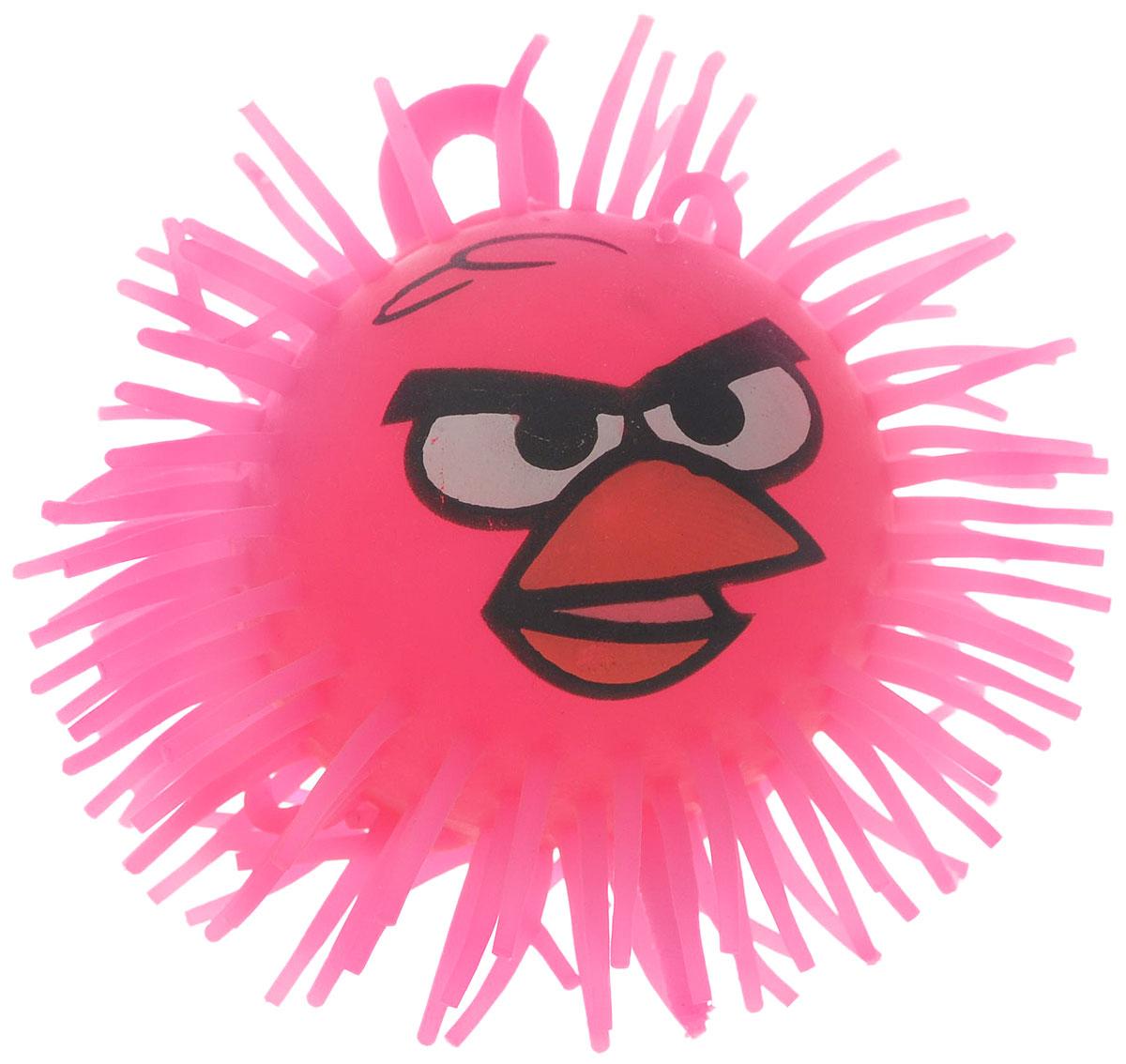 1TOY Игрушка-антистресс Ё-Ёжик Злая птичка цвет розовый диаметр 9 смТ61_розовый_диаметр 2Игрушка 1TOY Ё-Ёжик - это яркая игрушка-антистресс - мягкая, приятная на ощупь и напоминающая свернувшегося ёжика. Взяв игрушку в руки, расстаться с ней просто невозможно! Если перекинуть игрушку из руки в руку, она начнёт мигать цветными огоньками. Игрушка ярко-розового цвета с лицом птички из мультфильма Angry Birds и длинными мягкими колючками. Данная игрушка рассчитана на широкую целевую аудиторию, как детей от трёх лет, так и взрослых. Игрушка работает от незаменяемых батареек.