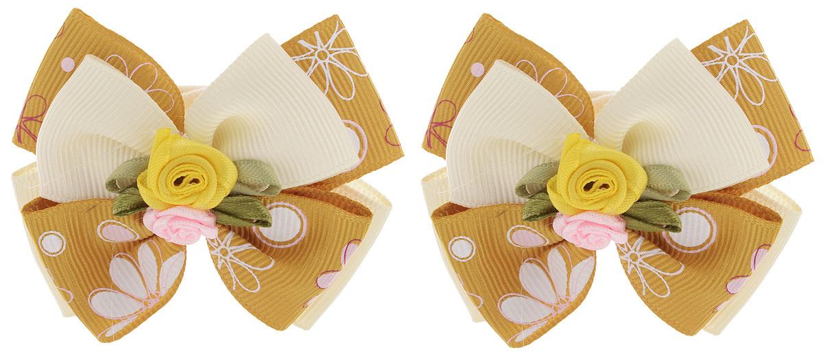Baby's Joy Резинка для волос Бантик цвет горчичный 2 шт