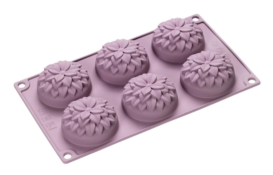 Форма для выпечки Lurch Dahlie, силиконовая, 6 ячеек85061Форма для выпечки Lurch Dahlie изготовлена из высококачественного силикона и представляет собой 6 ячеек в виде бутонов. Изделие не требуют смазывания и выдерживают диапазон температур от -40 до +240°C. Срок службы - 15 лет. Очень удобно и быстро моется. Порадуйте себя и своих близких качественным и функциональным подарком. Можно мыть в посудомоечной машине. Размер формы: 33 х 17,8 х 3,5 см.