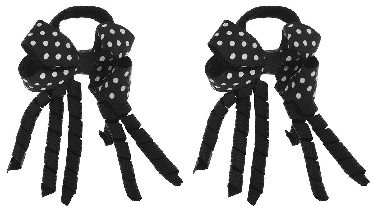Baby's Joy Резинка для волос Спиральки цвет черный белый 2 шт