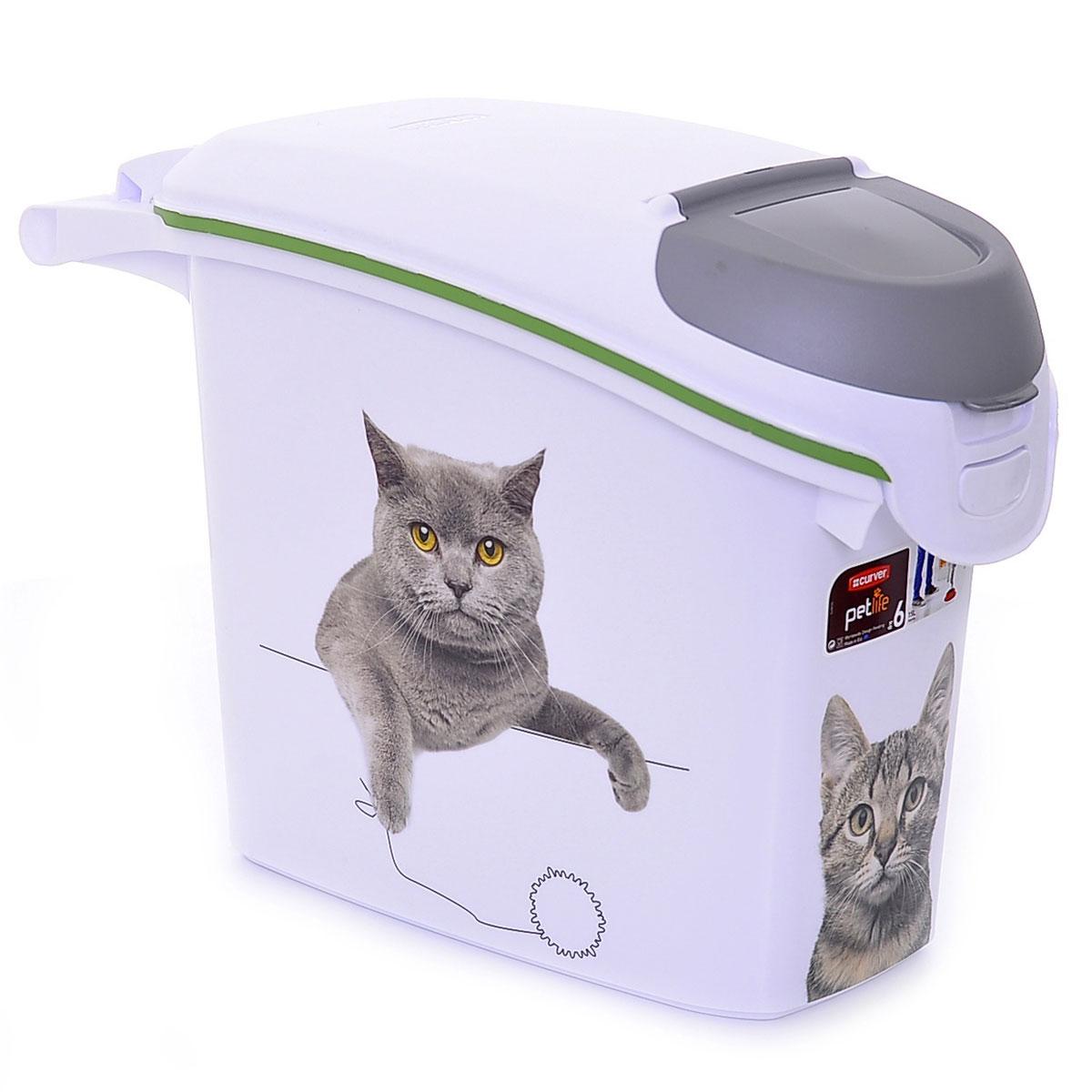 Контейнер для корма Curver PetLife Сладкие котята, на 6 кг, 15 л20232_британец, серый, бежевыйКонтейнер для корма Сладкие котятана 6кг/15л, 23*50*36см (201782) | | 1.18kg | Curver PetLife| 201782(три кота)