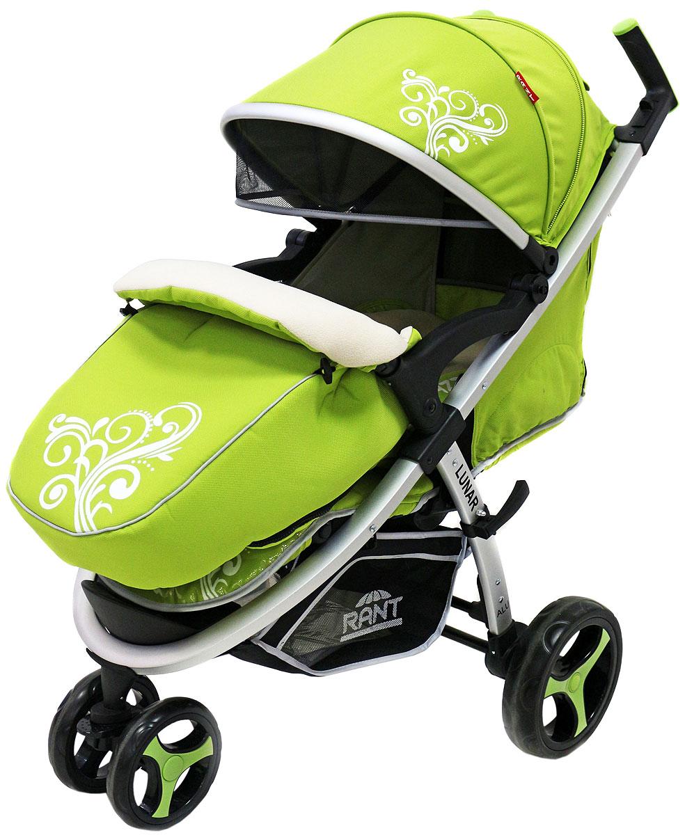 Rant Коляска прогулочная Lunar цвет зеленый4630008875117Трехколёсная прогулочная коляска LUNAR от торговой марки RANT – одна из самых популярных моделей, станет незаменимым помощником для родителей малышей от 6-ти месяцев до 3-х лет. Практичная, легкая и комфортная коляска выполнена в спортивном стиле. Модель представлена в нескольких цветовых решениях: фиолетовый, салатовый, бежевый, коричневый, черный. Прогулки с малышом будут приносить удовольствие и комфорт с коляской LUNAR . Благодаря тому, что спинка сиденья фиксируется в нескольких положениях, а наклон регулируется до горизонтального положения, Ваш малыш всегда примет удобную позу для сна и для прогулки. Сиденье дополнено мягким вкладышем, который сохранит тепло и комфорт малыша. Вкладыш оснащен дополнительной боковой поддержкой в области плеч и ног, что помогает фиксировать правильное положение спины и формировать осанку ребенка. Увеличенный складной капюшон коляски LUNAR защитит Вашего ребенка от солнца и ветра. Задняя стенка капюшона на молнии, легко снимается для...